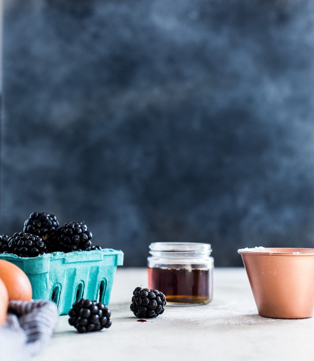 Blackberry Baked Custard {a cross between a pudding and claufoutis}