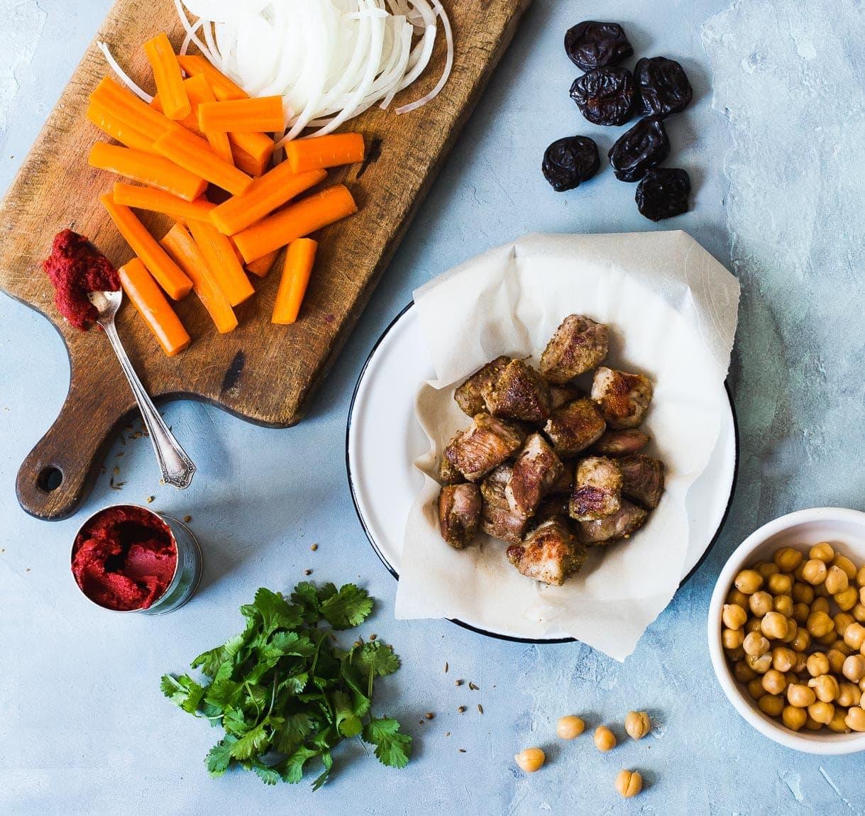 Three Spice Pork Stew with Chickpeas {heartbeet kitchen}