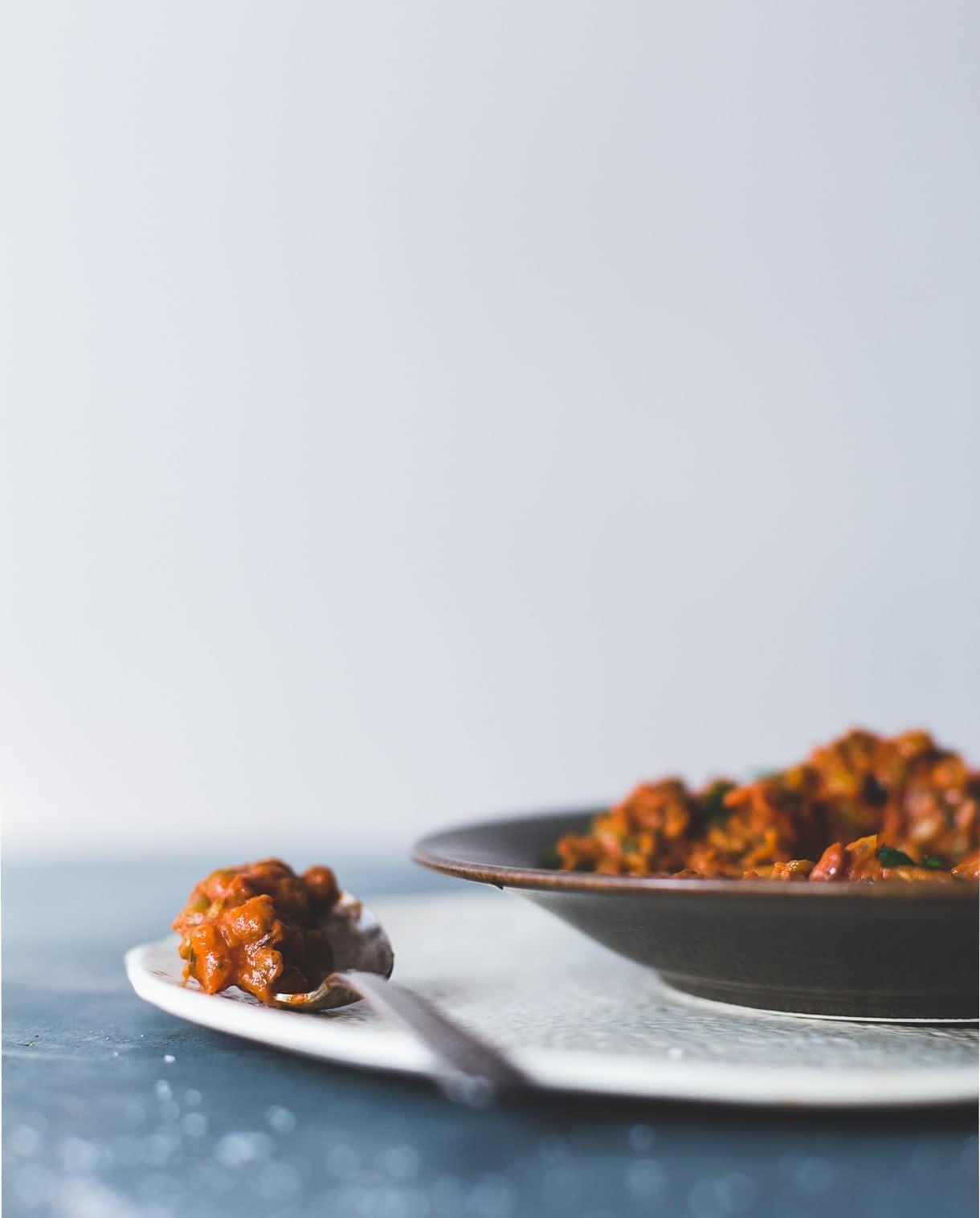 Smoky Tomato Lentils Cooked in Coconut Milk {vegan, cheap eats}