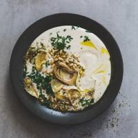Silky Smooth White Bean Hummus, Meditteranean Style