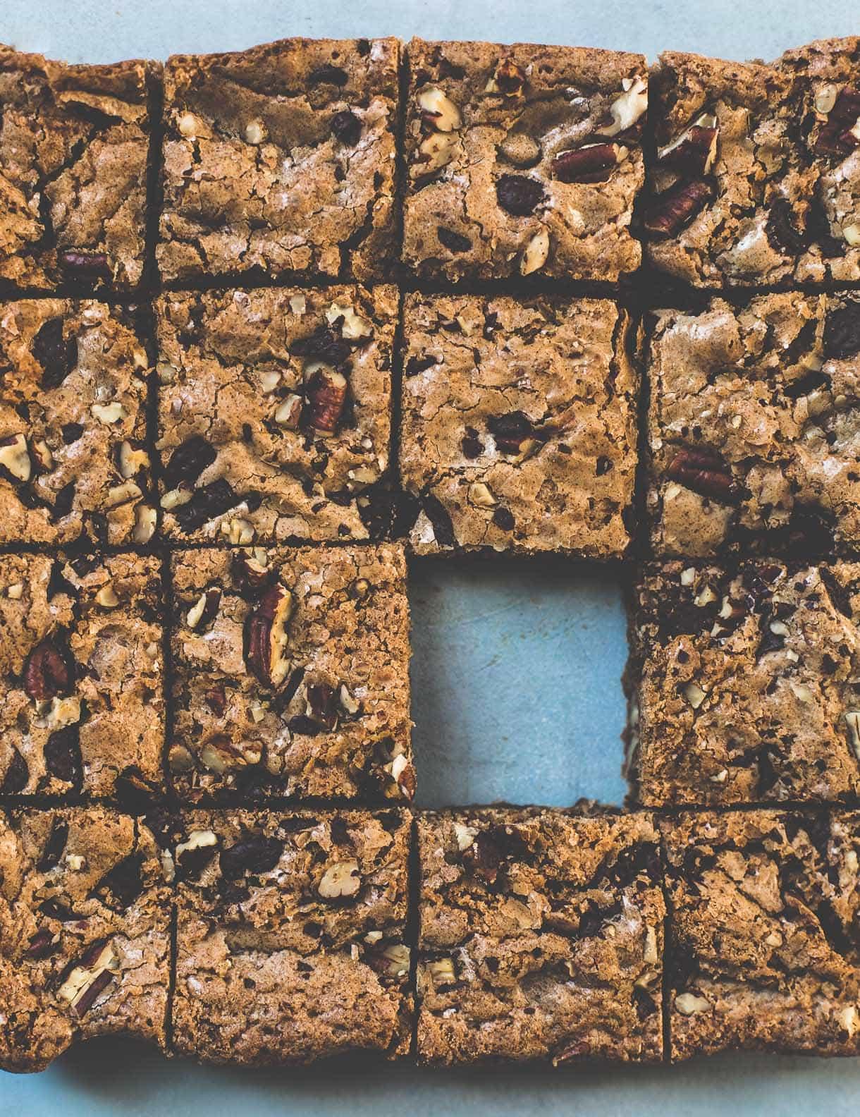 Coffee Chocolate Chunk Gluten-Free Blondies {crackly tops, dense bite, perfect dessert}