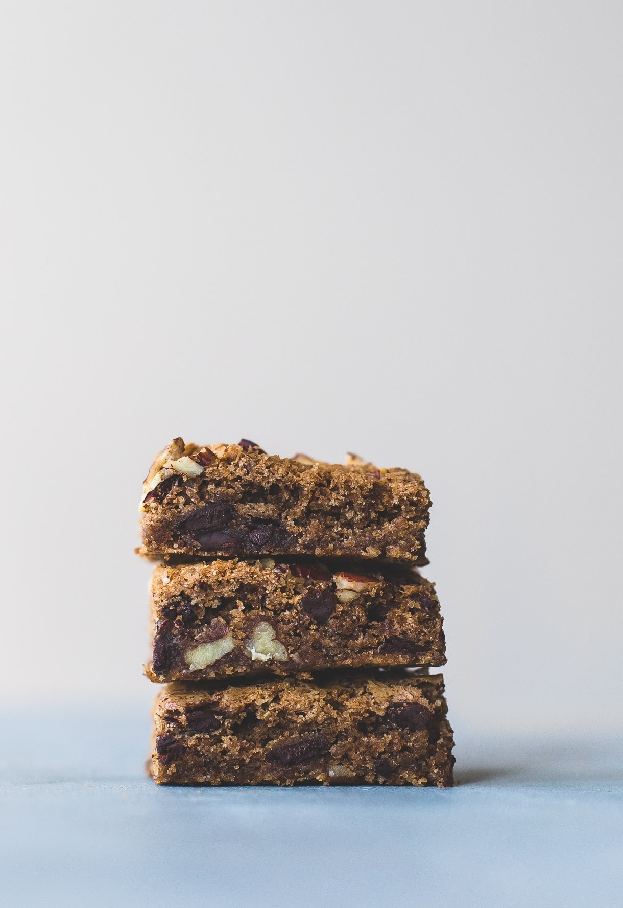 Coffee Chocolate Chunk Blondies -- gluten free, made with teff flour. adapted from Vanilla Bean Baking Book