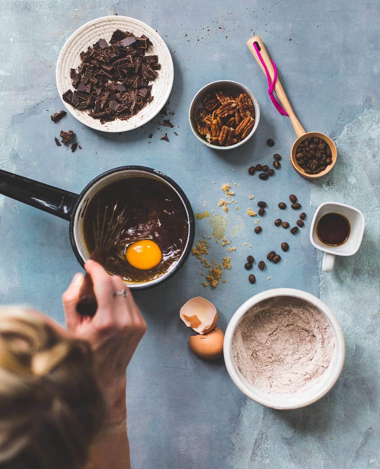 Coffee Chocolate Chunk Blondies