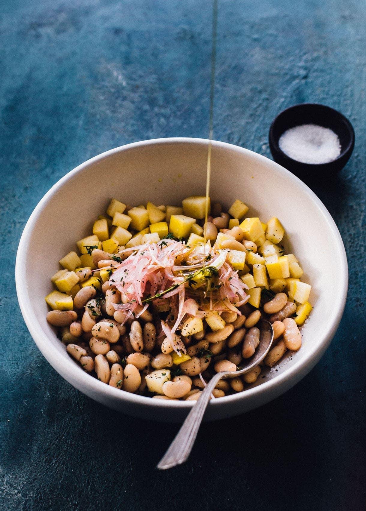 Red Wine Vinegar + Olive Oil Apple White Bean Salad