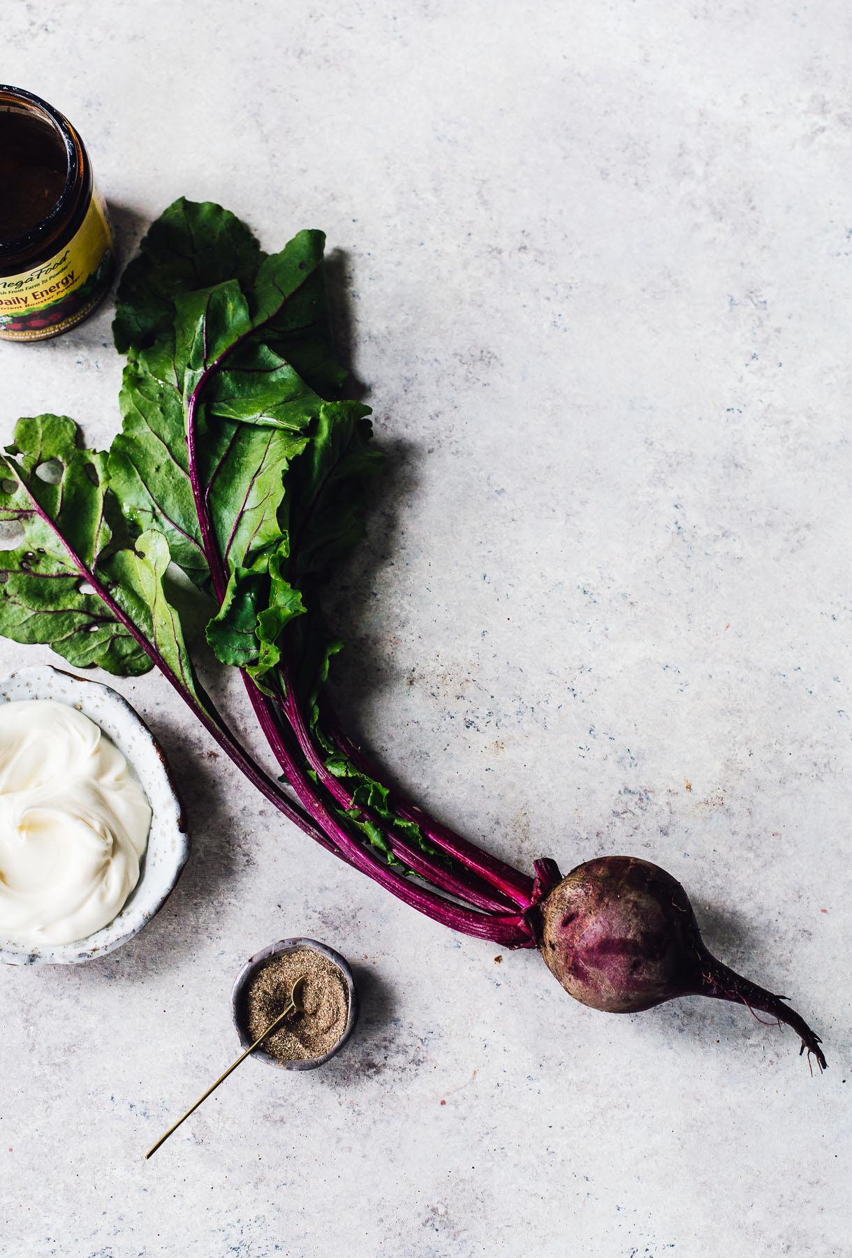 Roasted Cabbage Steaks With Garlicky Beet Sauce Vegetarian