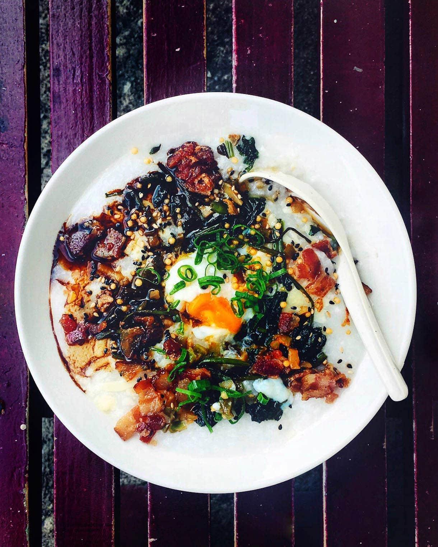 Breakfast Congee at Koko Head Cafe -- honolulu breakfast spot
