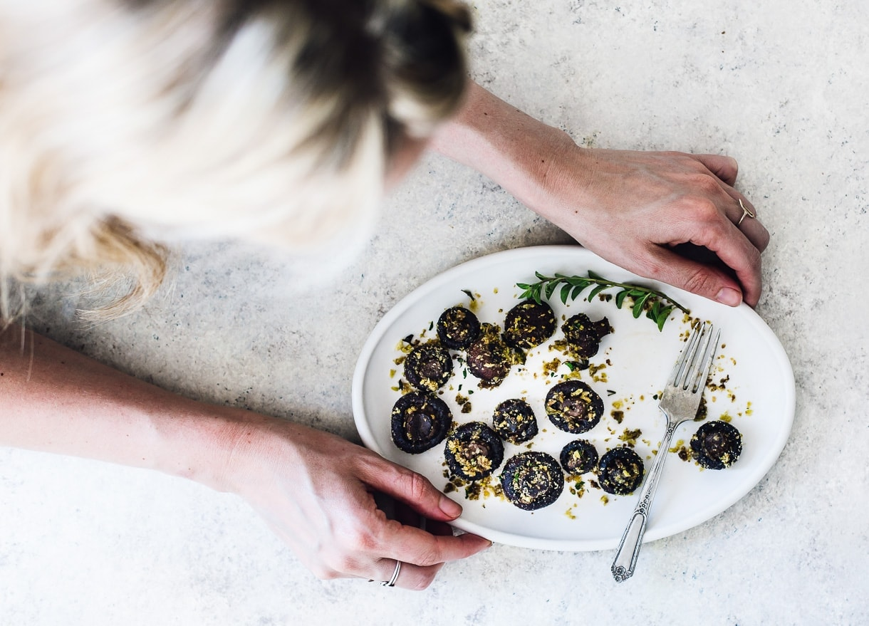 Oregano and Butter Roasted Mushrooms with Crispy Crumbs
