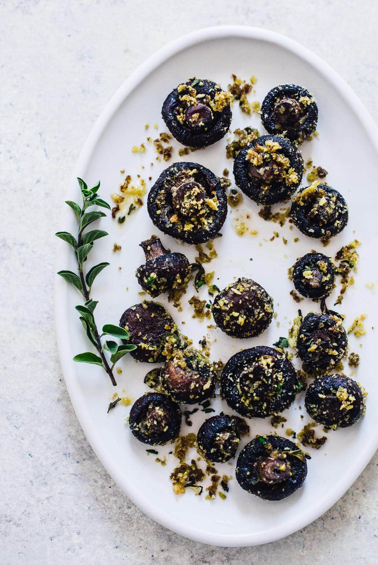 Butter Roasted Mushrooms with Crispy Crumbs