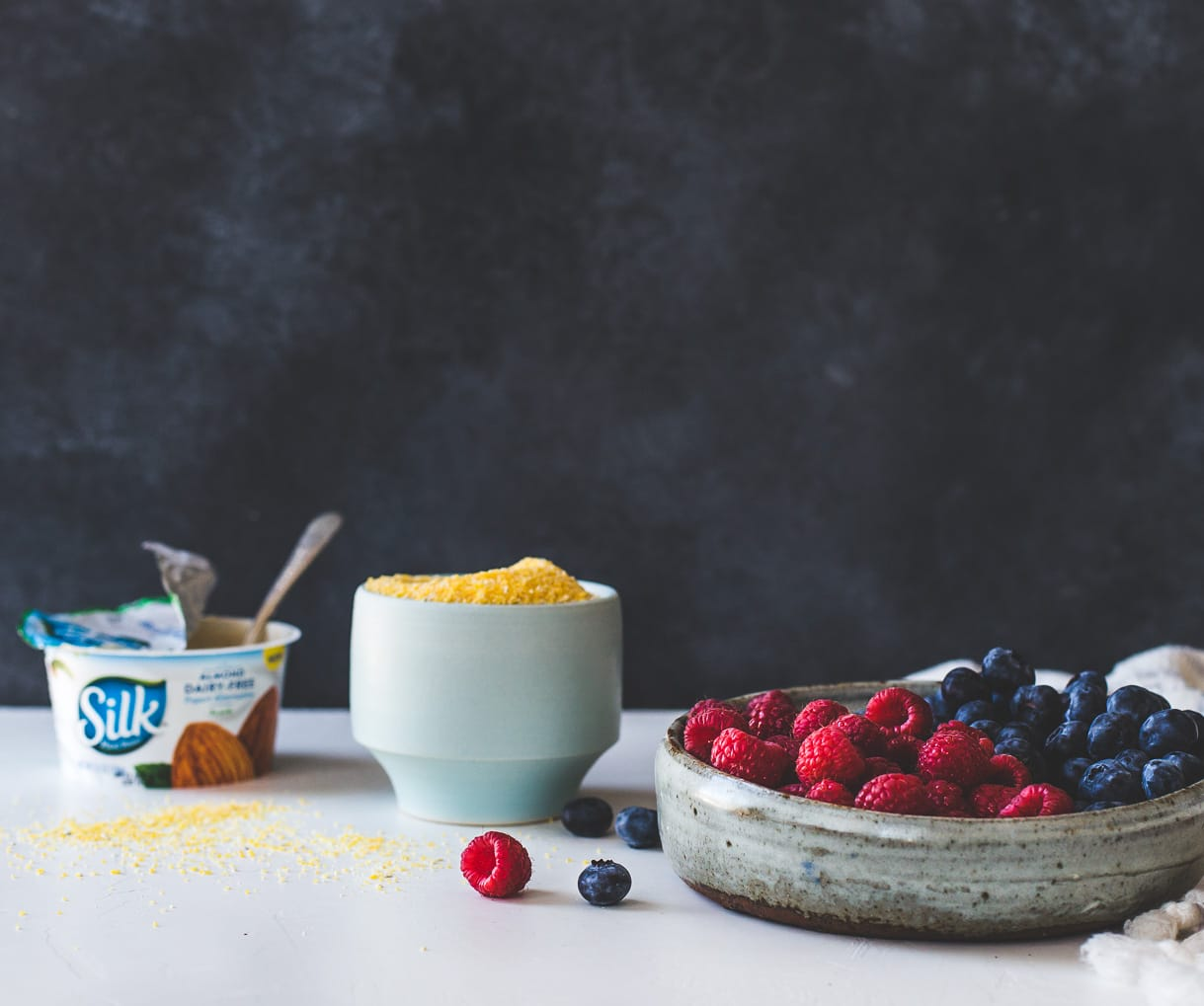 Yogurt Polenta with Berries and Honey {gluten-free, breakfast polenta recipe}