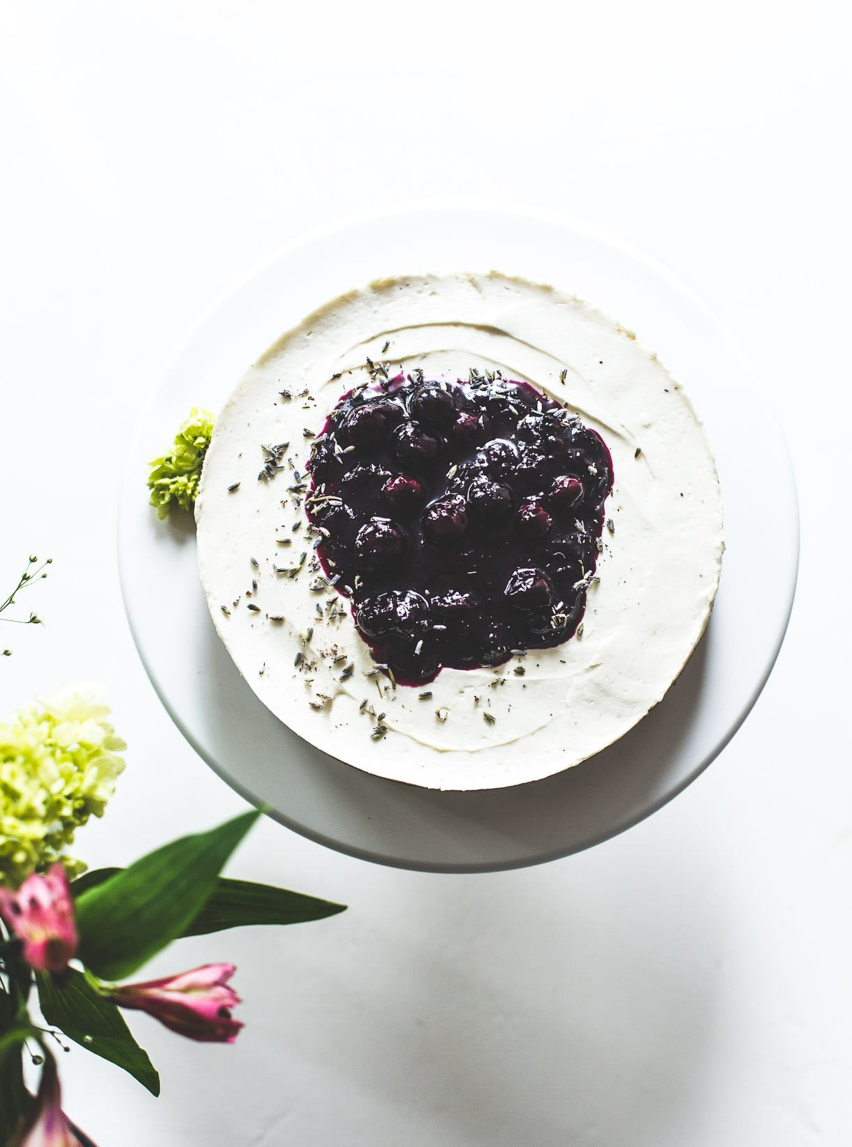 No Bake Blueberry Cheese with gluten-free crust
