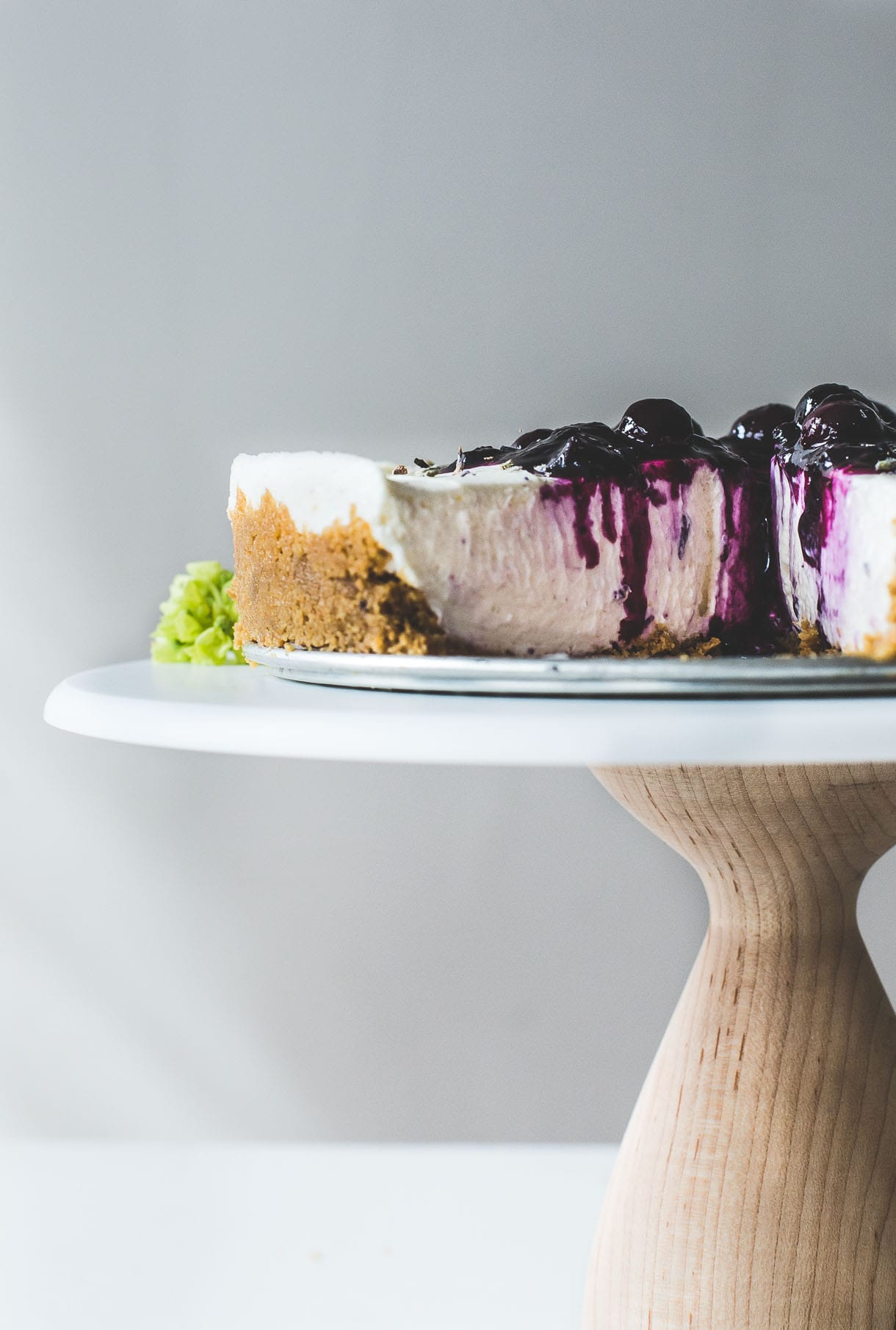 No-Bake Blueberry Lavender Cheesecake