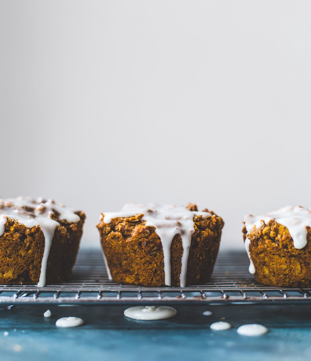 Deliciously Healthy Sweet Potato Muffins with Vanilla Icing -- vegan and gluten free, no bananas