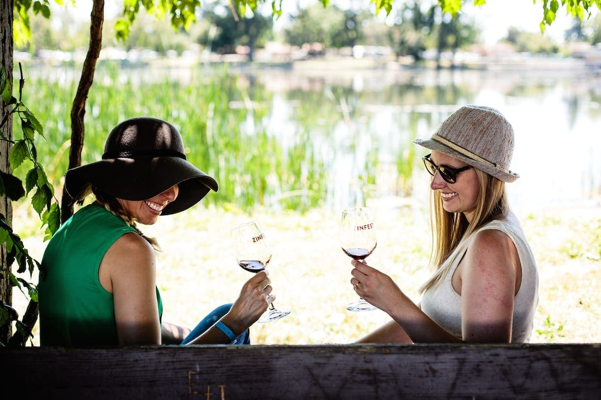 Amanda and Sarah at Zinfest: Lodi, California