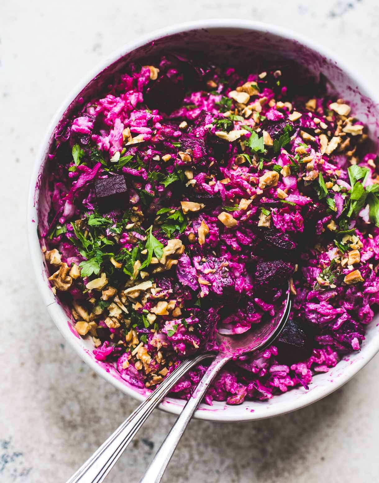 Super Pink Rice and Roasted Beet Salad Recipe {gluten-free}