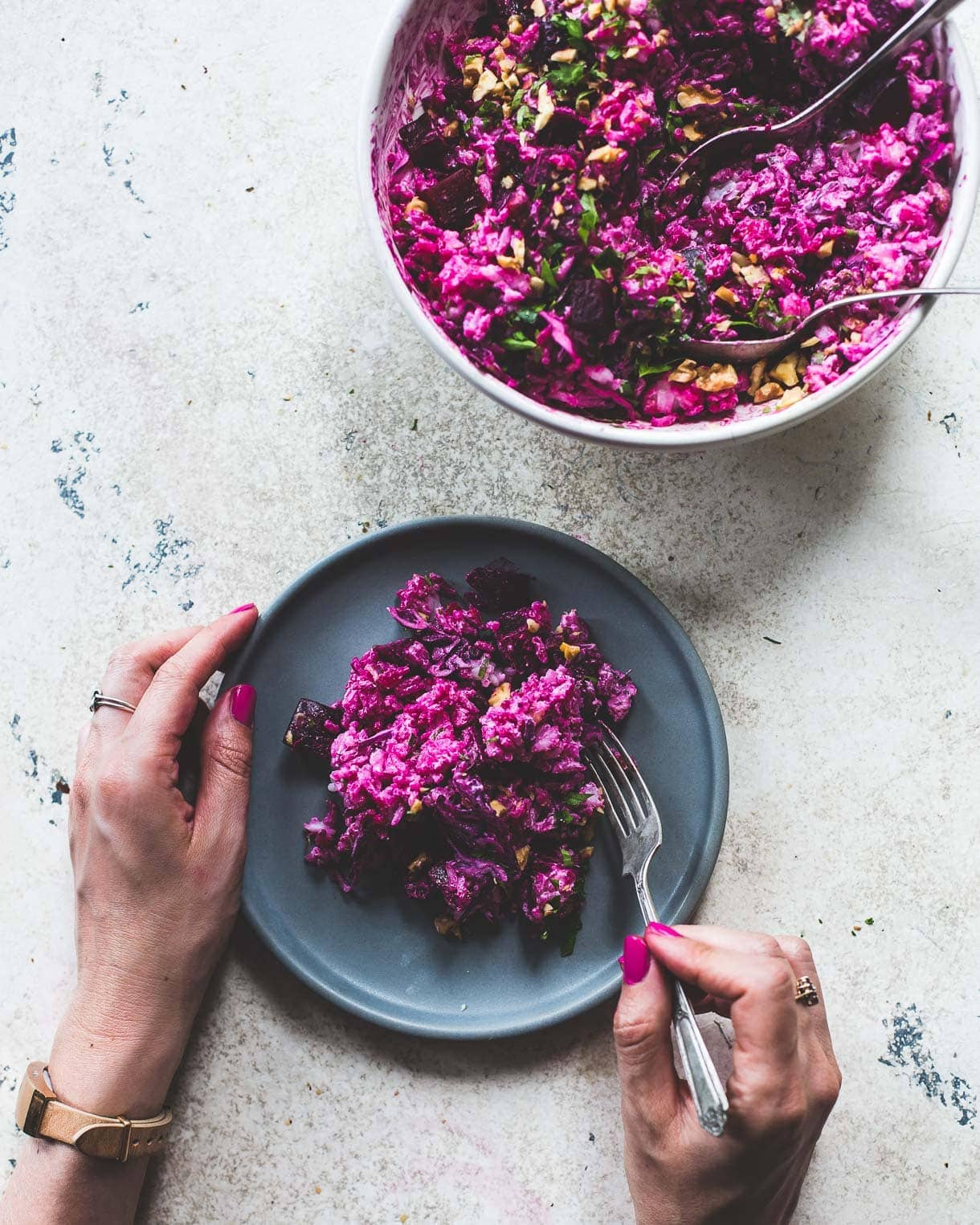 Super Pink Roasted Beet Salad Recipe