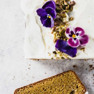 Teff Flour Cardamom Pistachio Cake with Cream Cheese Frosting {gluten-free}