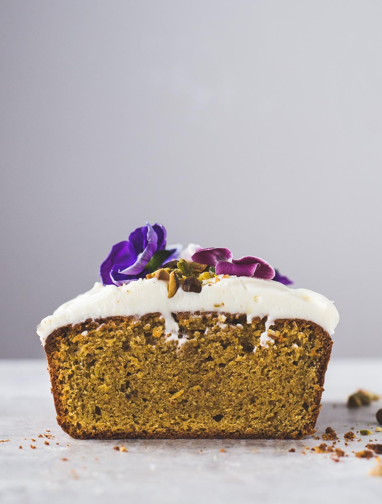 Pistachio Cardamom Cake with Cream Cheese Frosting {gluten-free}