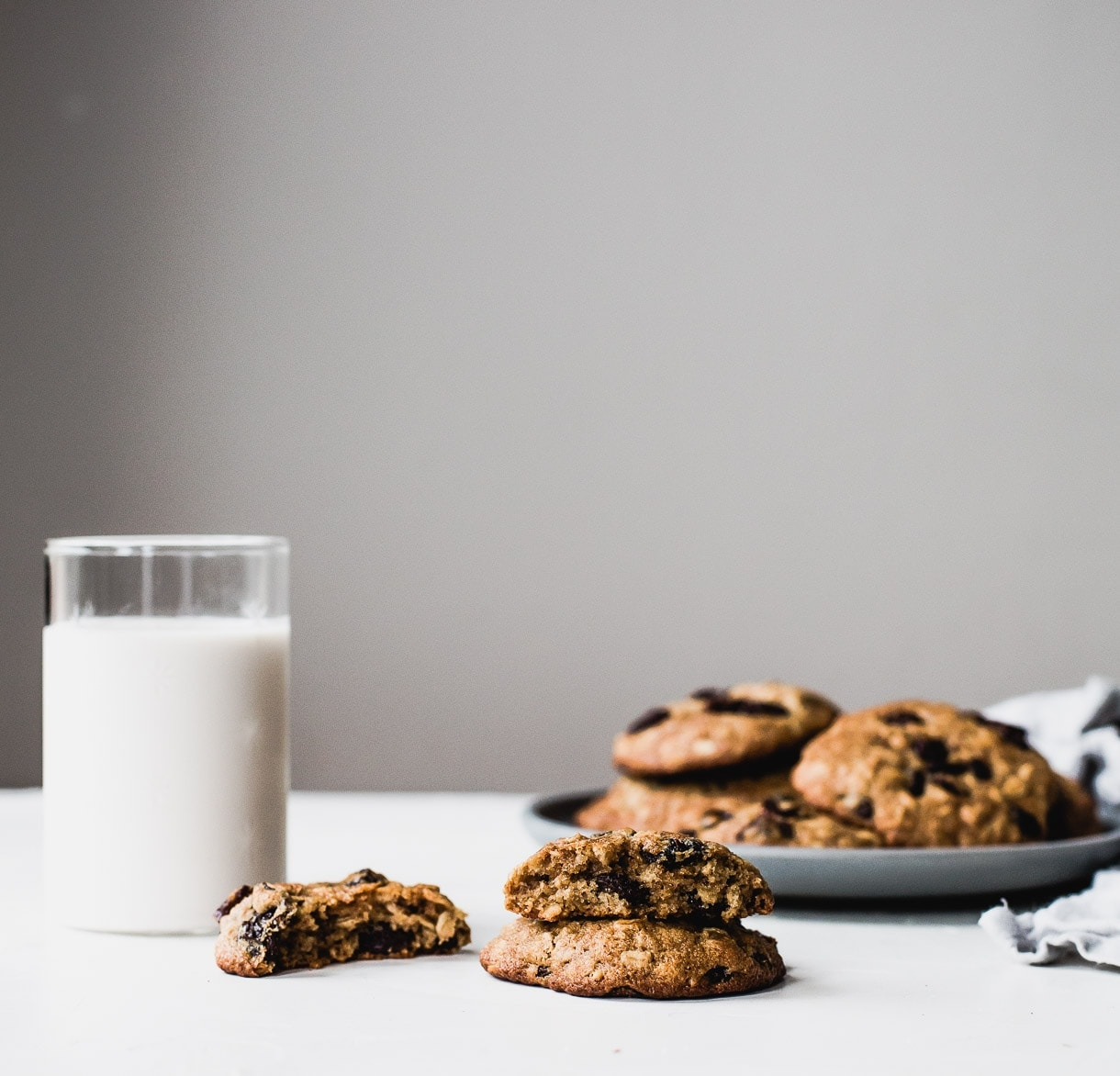 Gluten Free Oatmeal Raisin Cookies - cookies made with olive oil