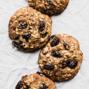 Soft Olive Oil Oatmeal Raisin Cookies {naturally gluten-free}