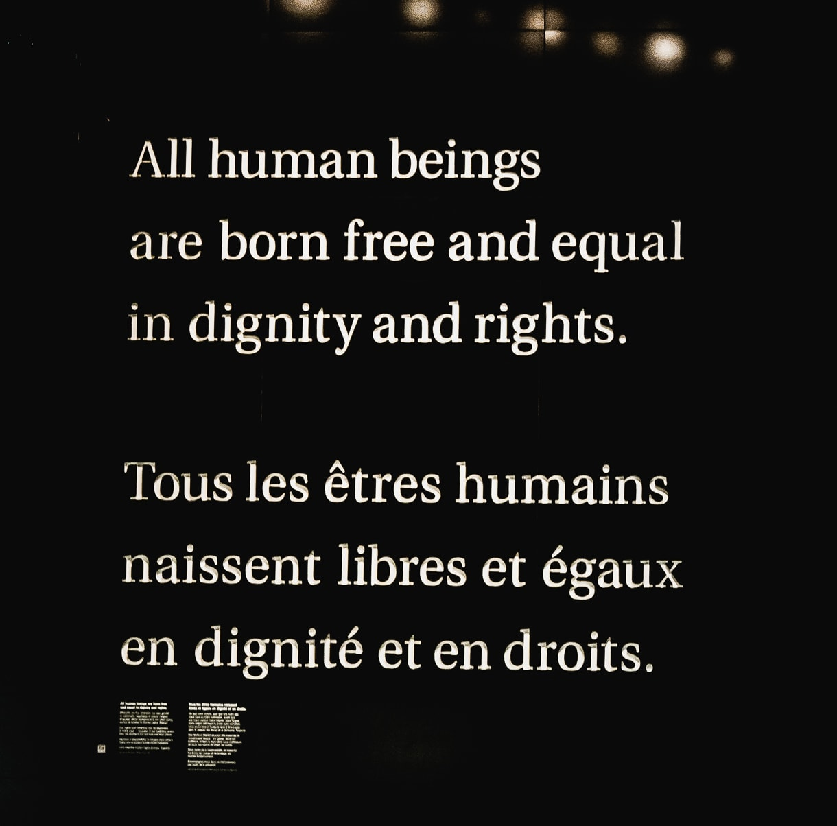 Human Rights Museum of Canda: All human beings are born free