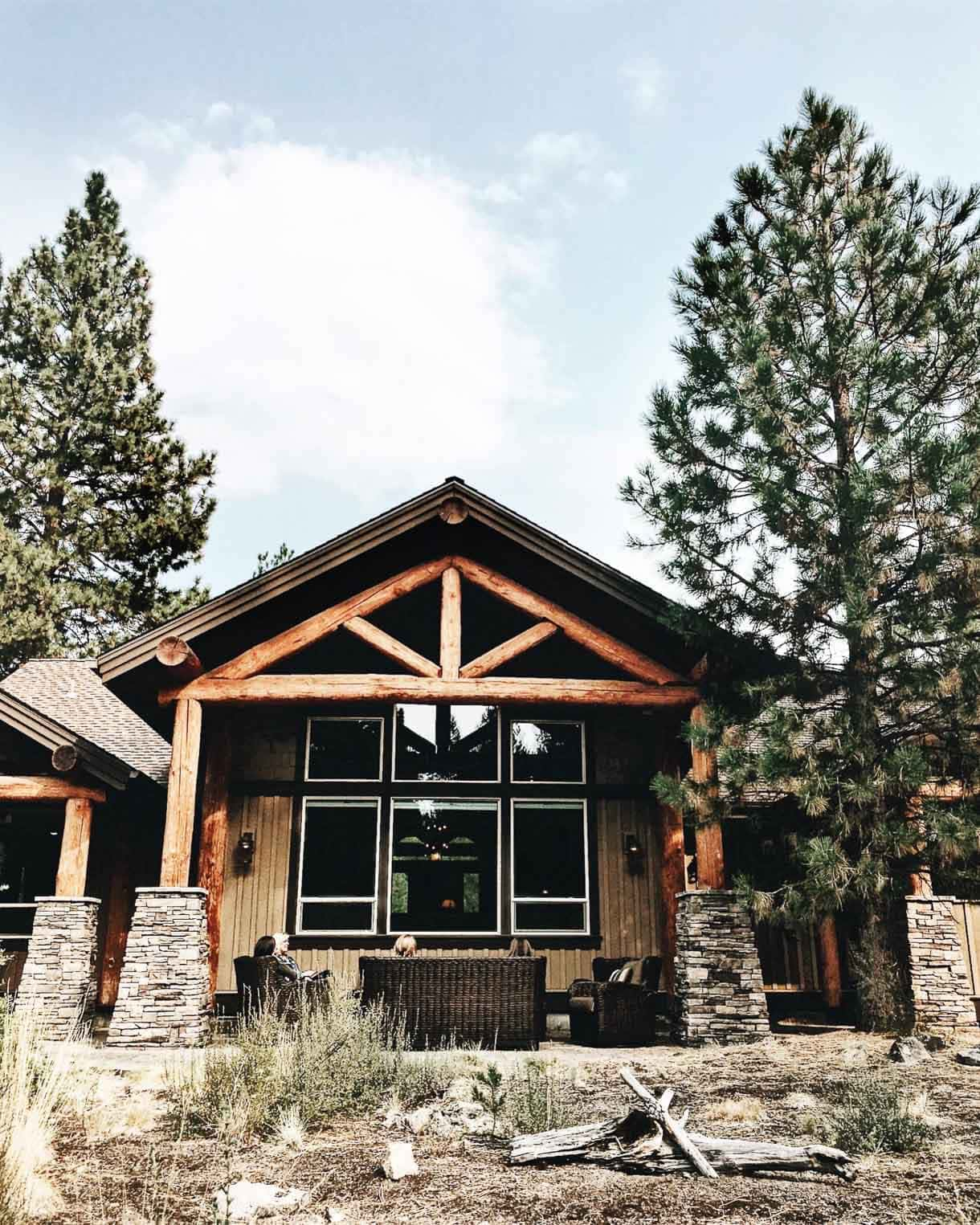 home at Caldera Springs, Sunriver Resort // cozy house with tall pines