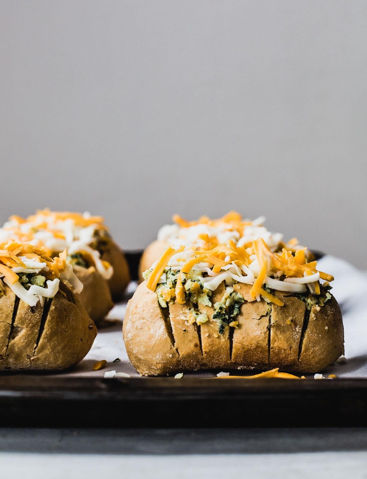 Cheesy Pull-Apart Hasselback Bread