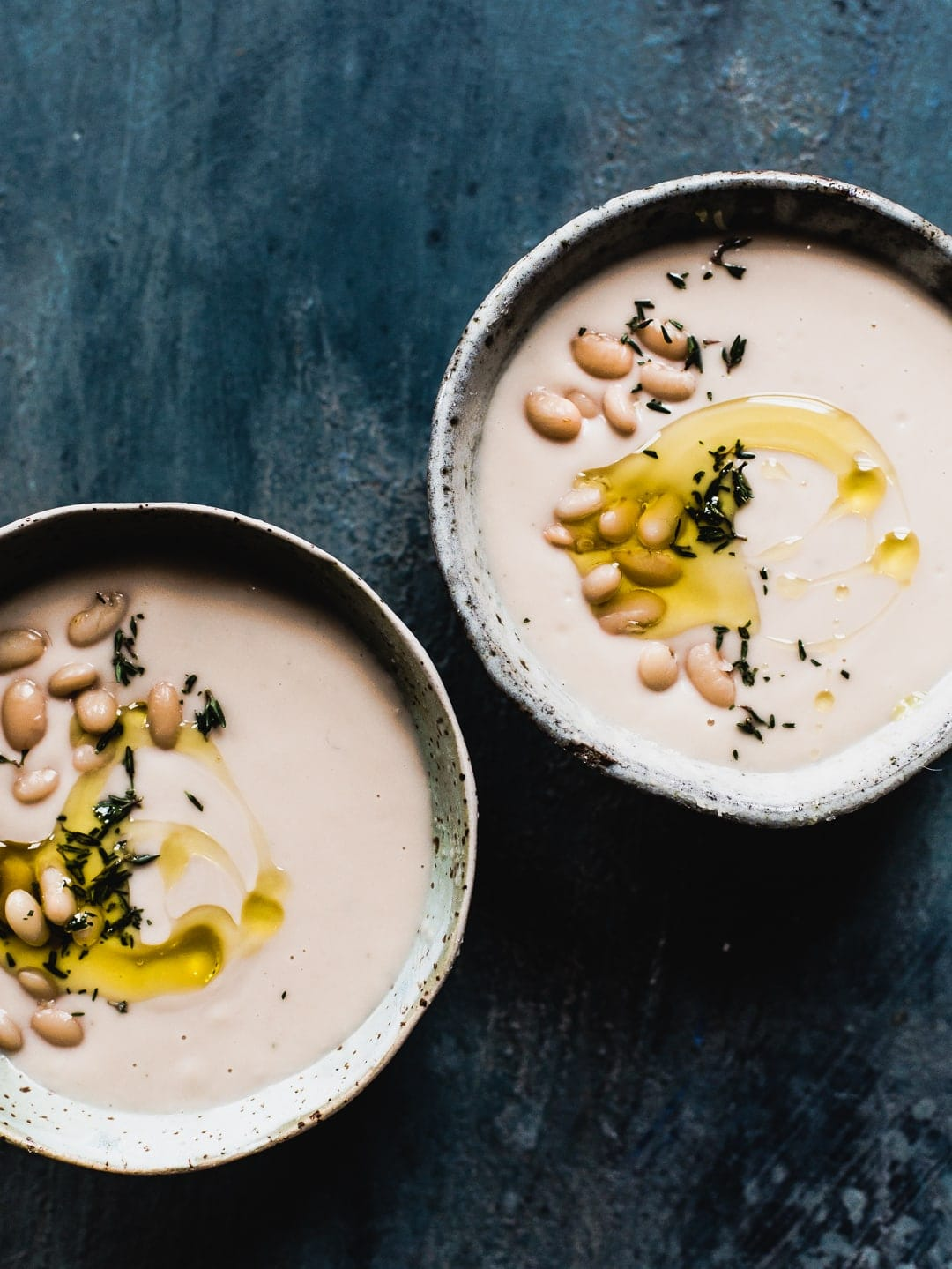Simple Instant Pot White Bean Soup {vegan}