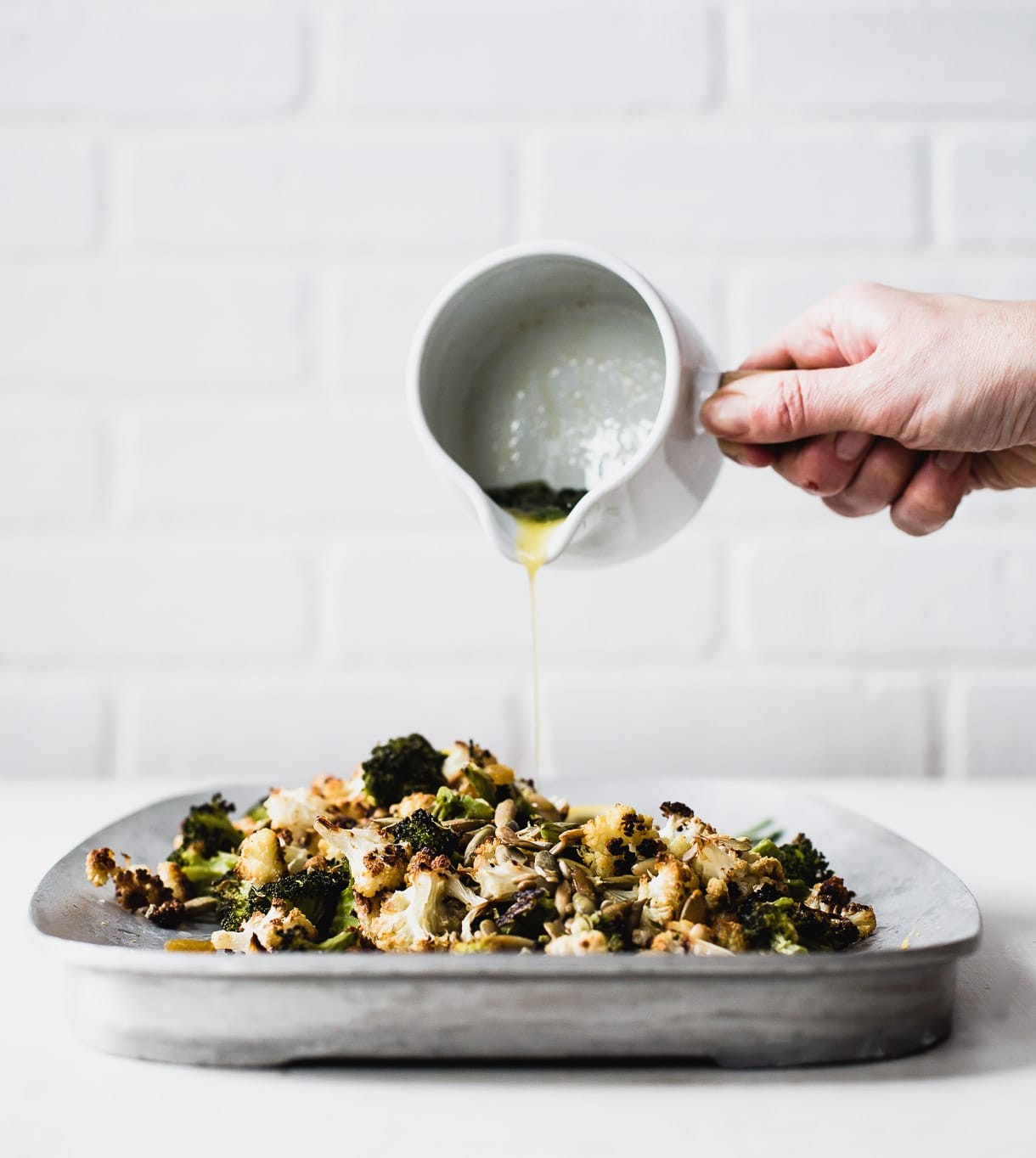 Roasted Broccoli and Cauliflower Salad with Sage Butter