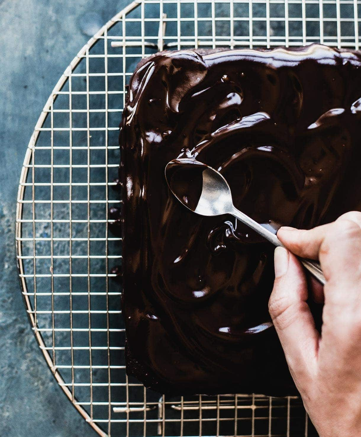 Gluten-Free Teff Brownies with Coconut Milk Vegan Ganache