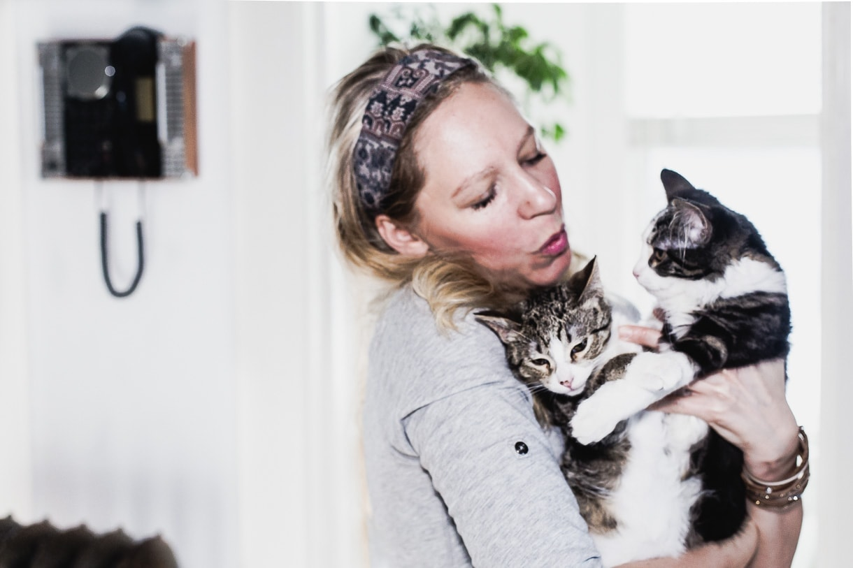 Woman holding kittens // Kittens giving hugs // Heartbeetkittens // Heartbeet Kitchen