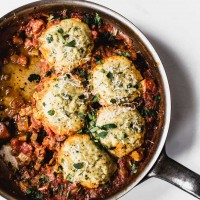 Tomato Cobbler with Gluten-Free Drop Biscuits