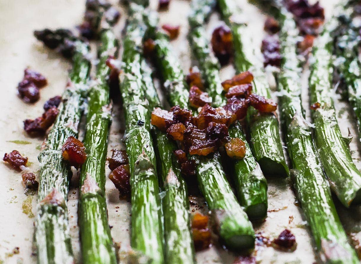 Asparagus with Bacon and Parmesan -YUM!