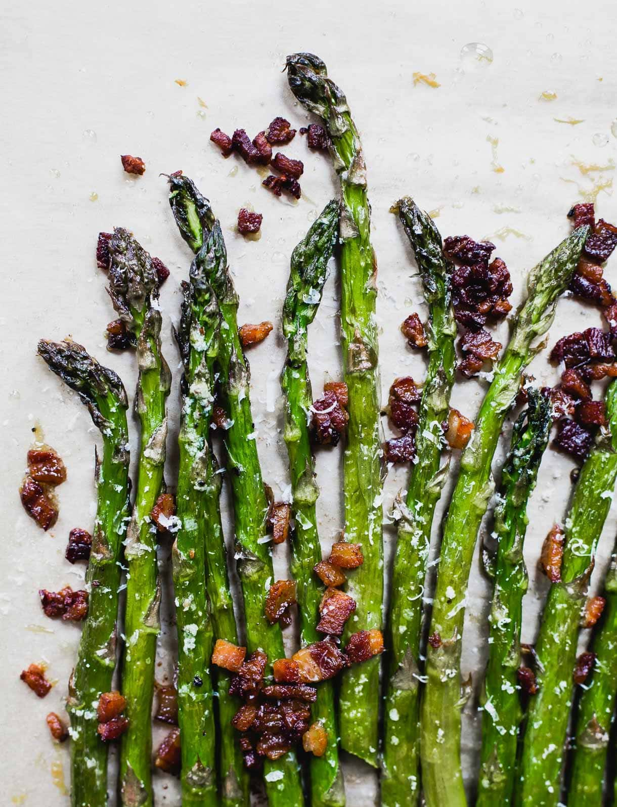 Best 3 Ingredient Asparagus Recipe Ever! With bacon and parmesan.