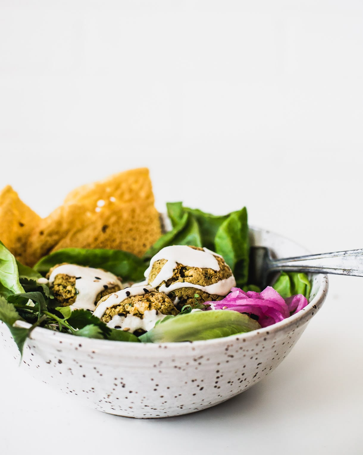 Baked Falafel Salad -- heathy and vegan!