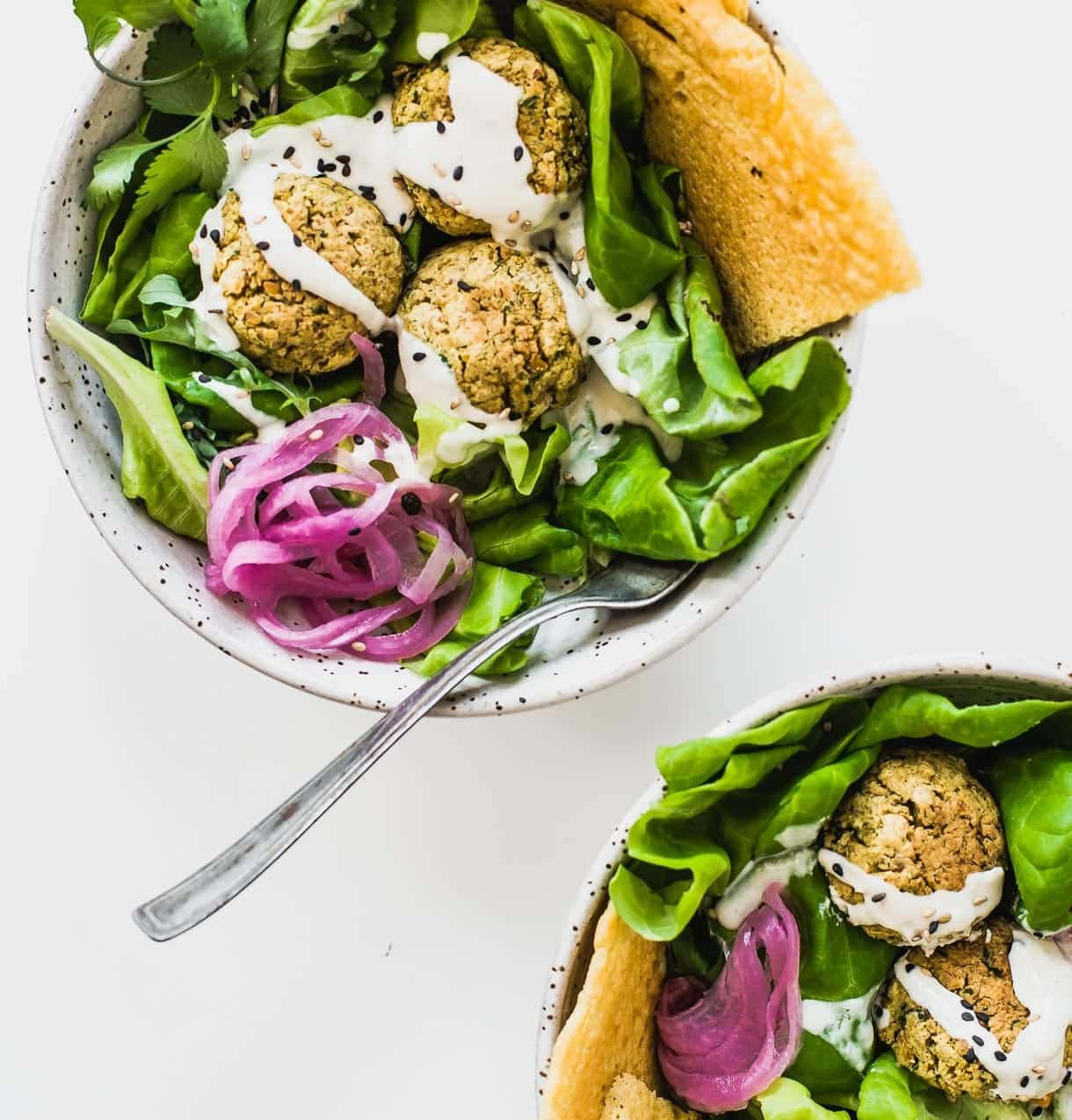 Baked Falafel Salad Recipe -- heathy and vegan!