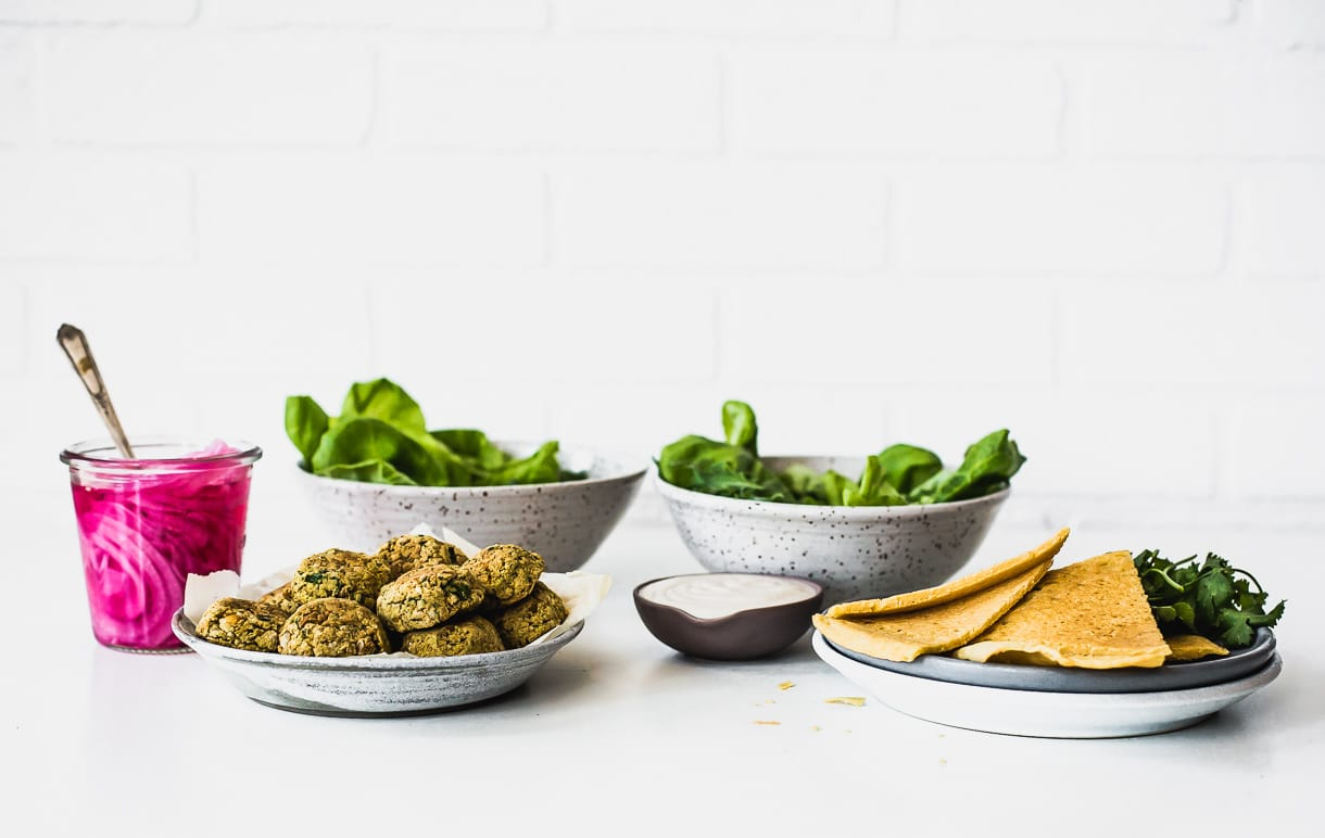 Healthy Baked Falafel Salad Recipe - gluten free and vegan