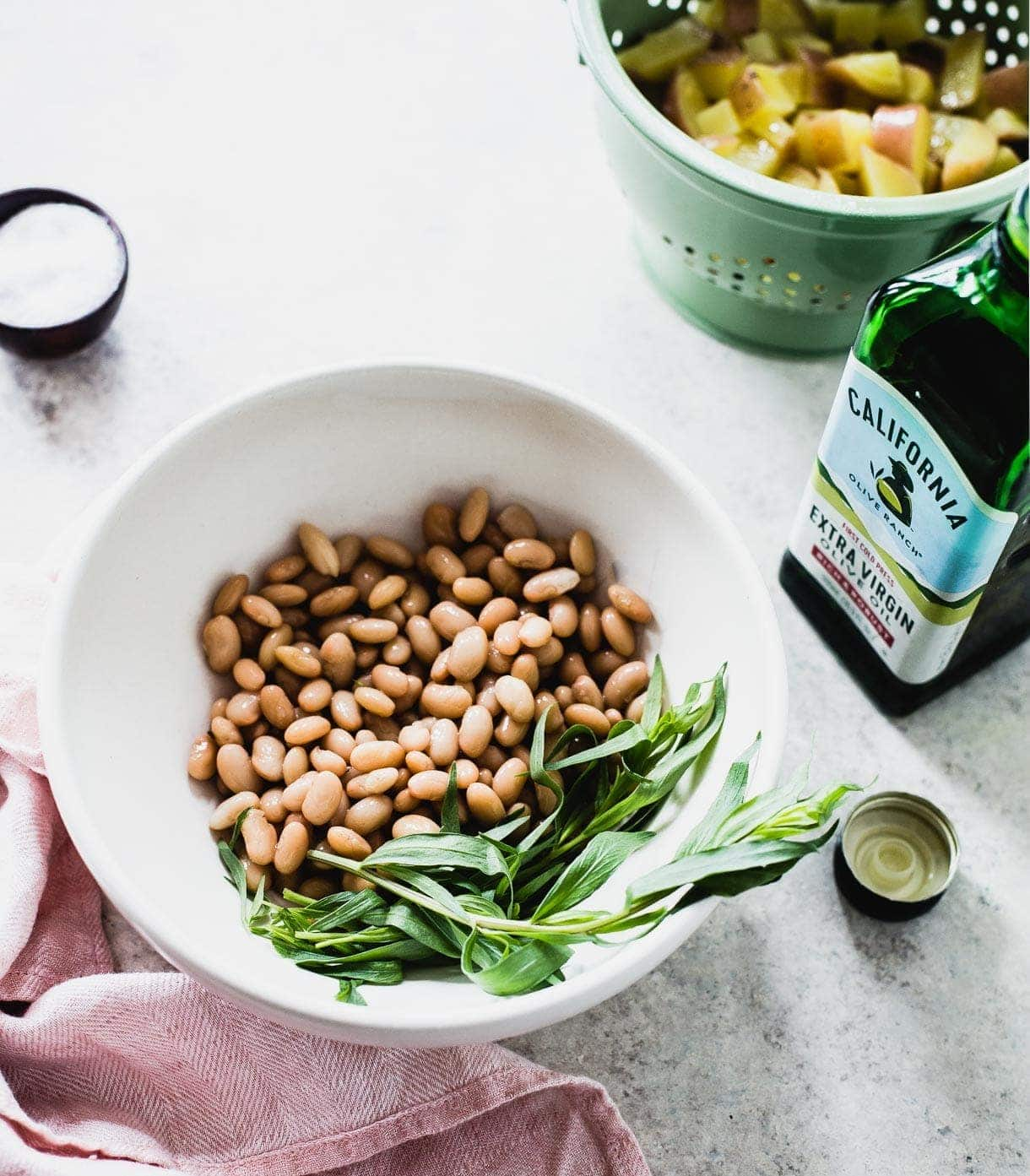 White Beans and Potatoes Marinated in Olive Oil