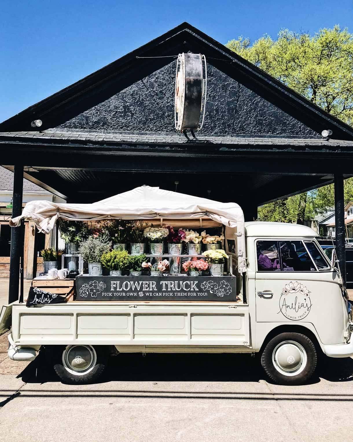 traveling flower truck