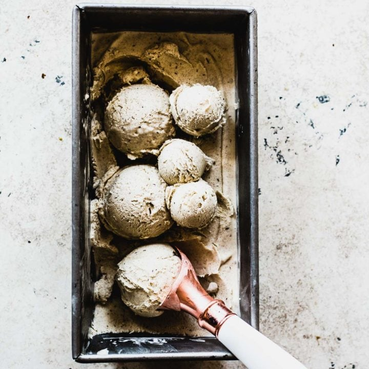 Date Shake Ice Cream // ice cream photography