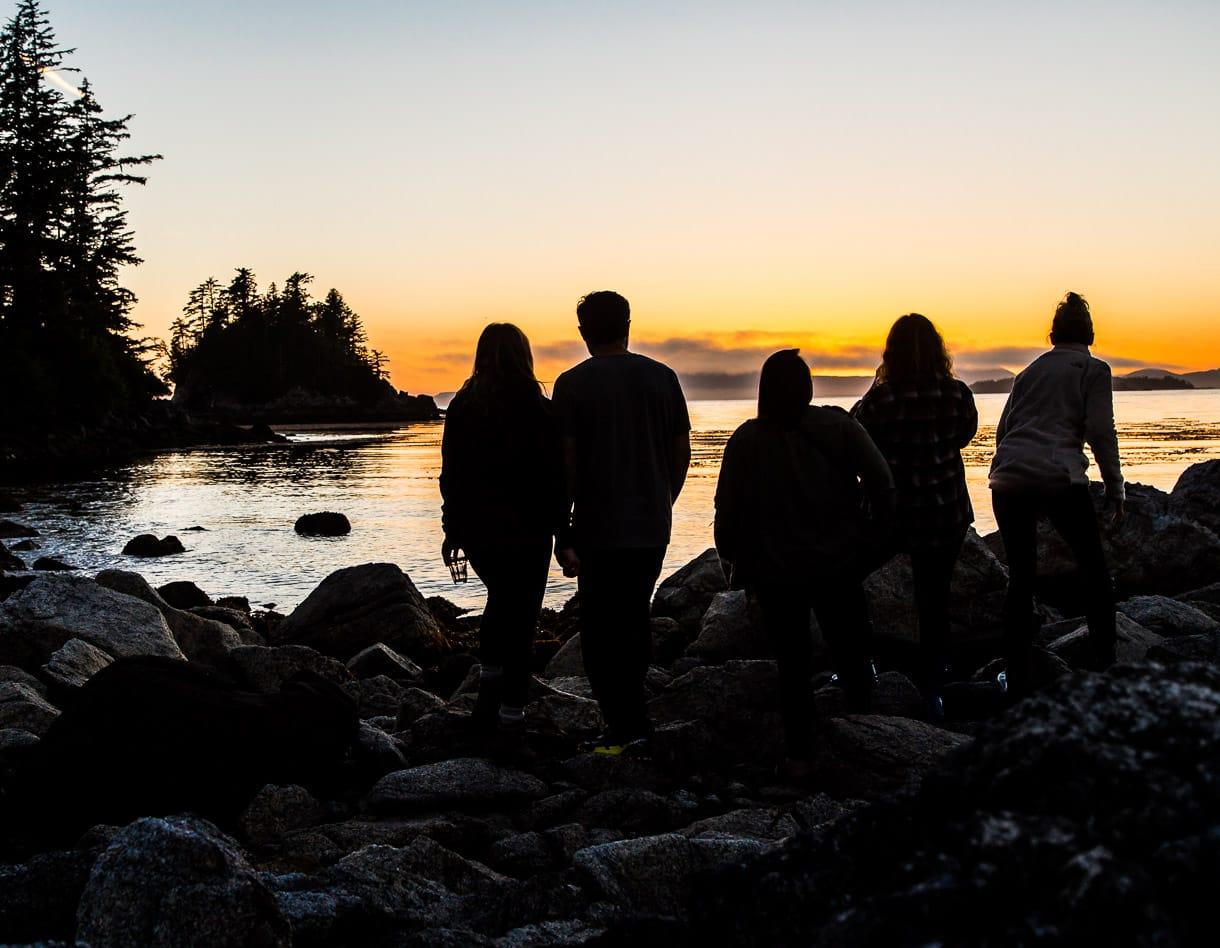 sitka sunset, solstice