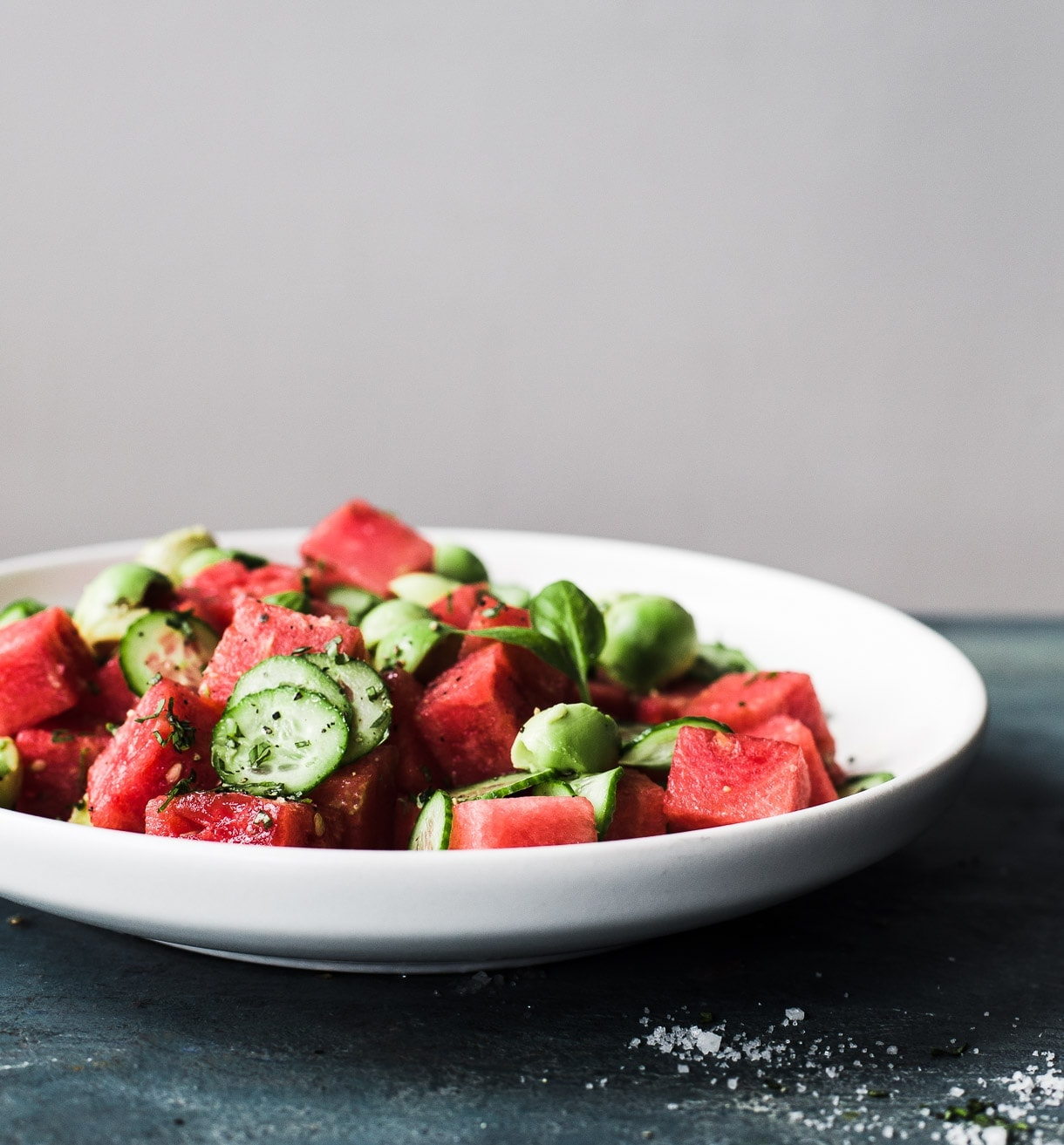 Cucumber Watermelon Avocado Salad