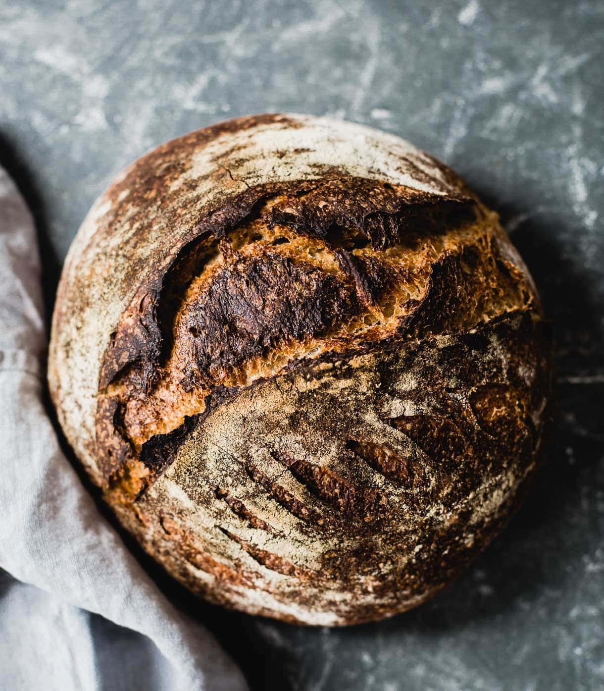 Red Fife Sourdough Bread in a boule shape