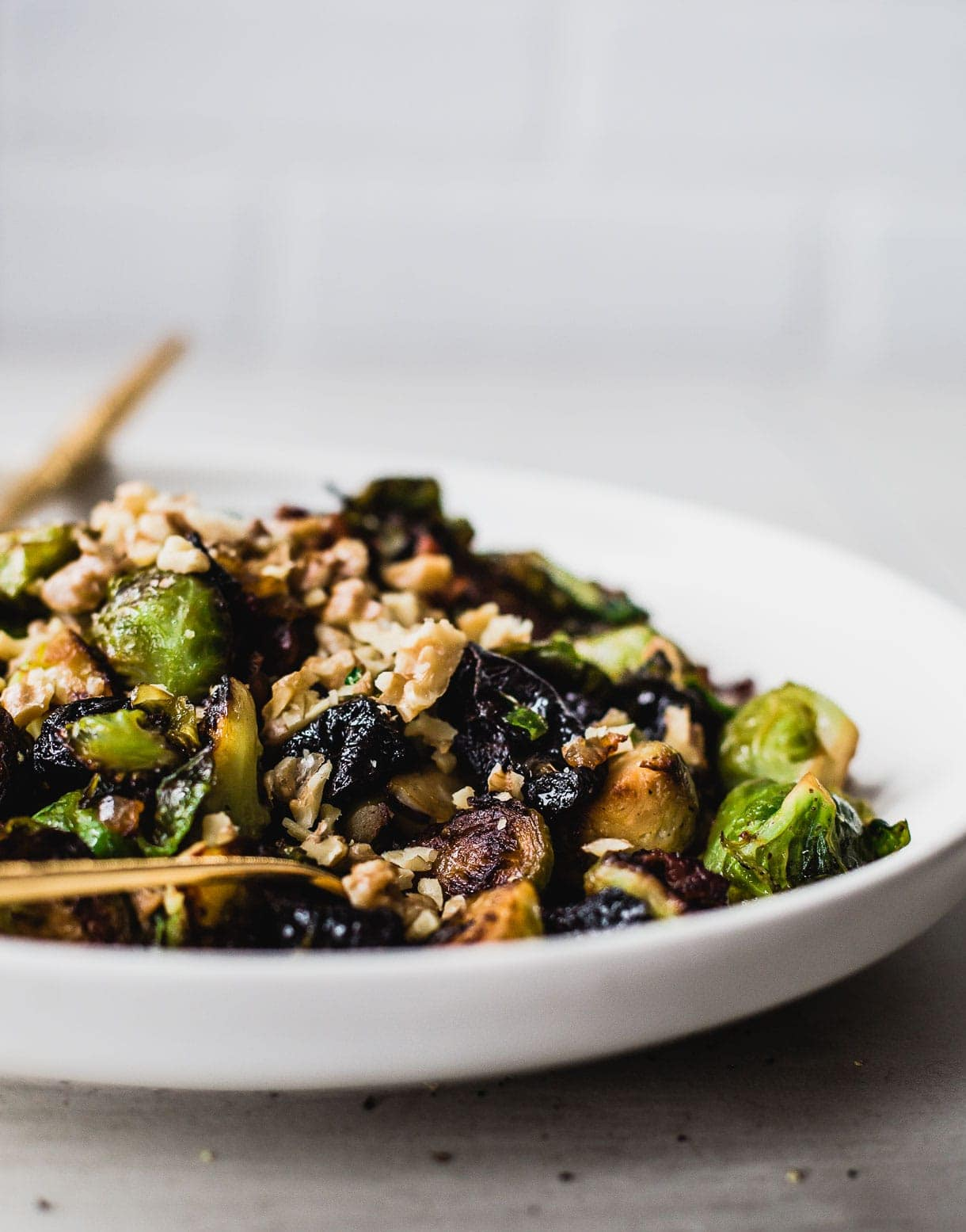 Sweet & Salty Brussels Sprouts with Bacon (paleo)