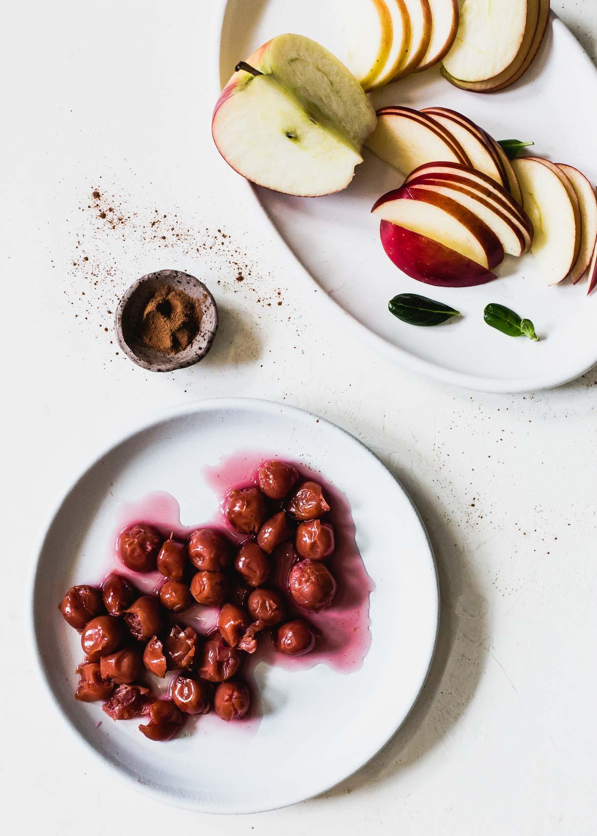 Tart Cherries and Apples