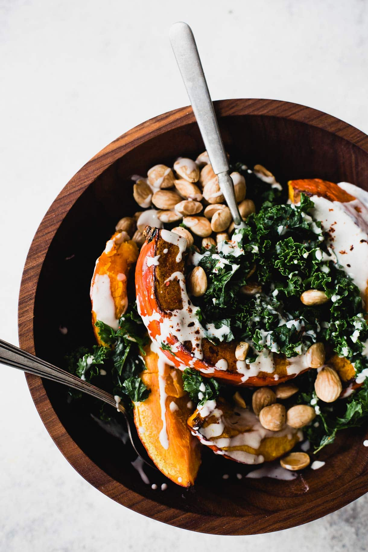 Roasted Red Kuri Squash Salad with Tahini