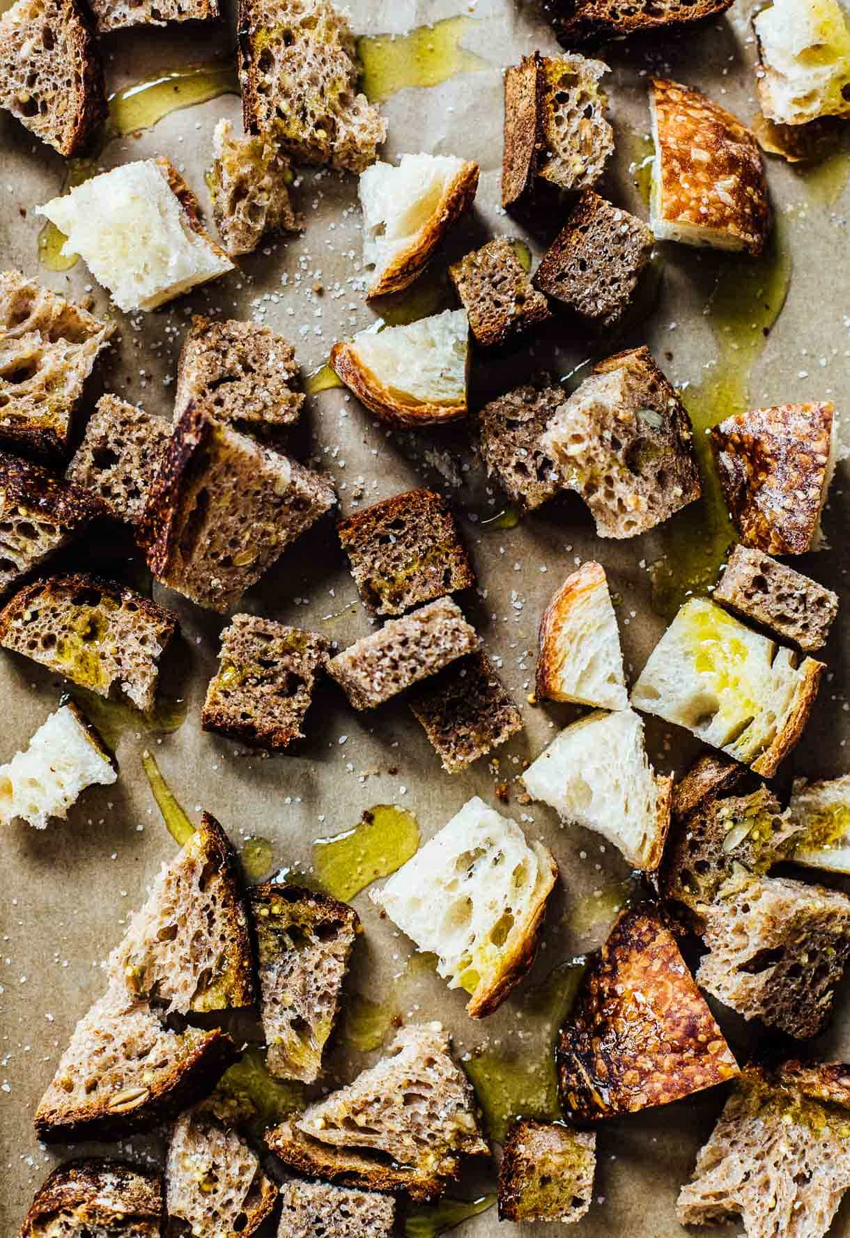 how to make sourdough croutons
