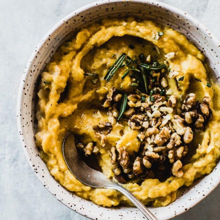 Acorn Squash Puree for thanksgiving side dish