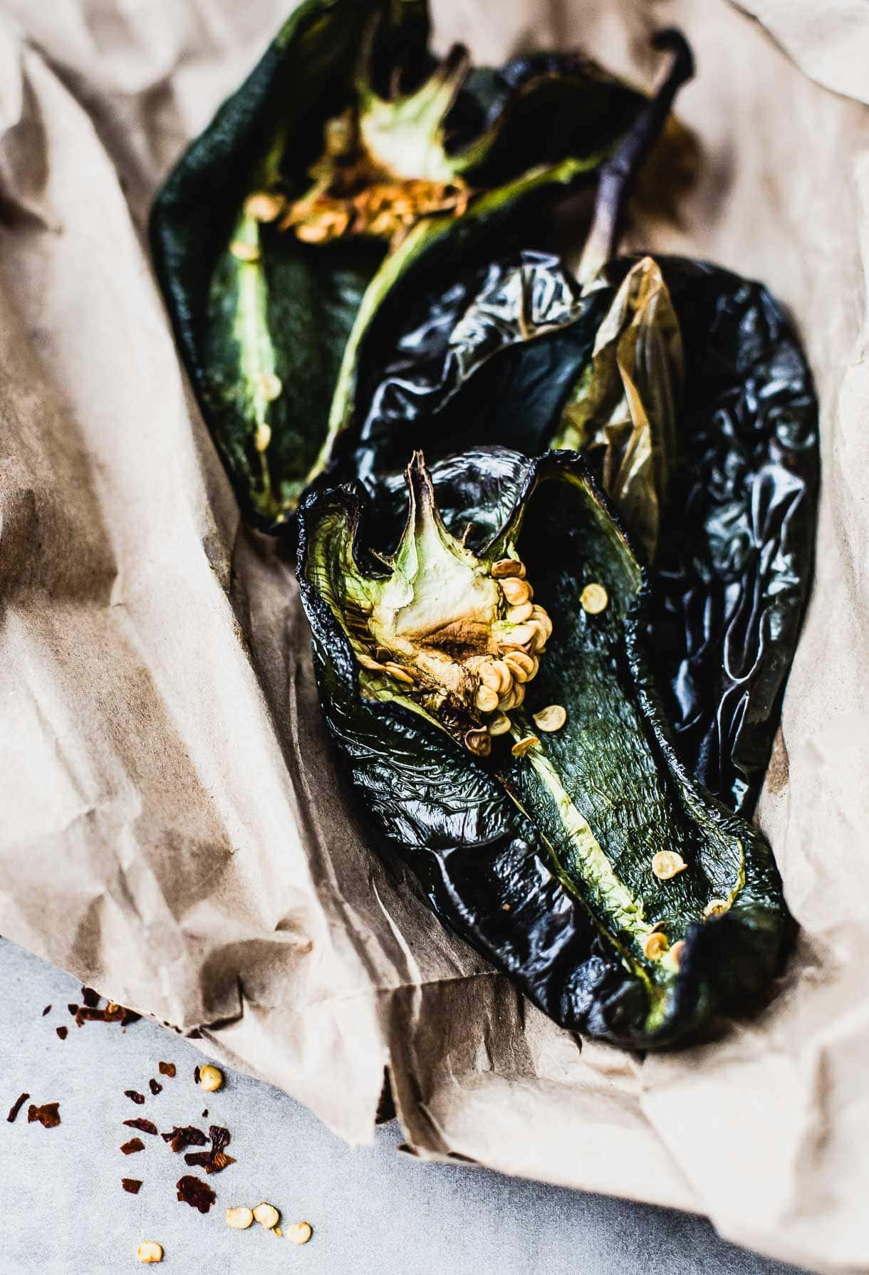 Rosted Poblano Peppers