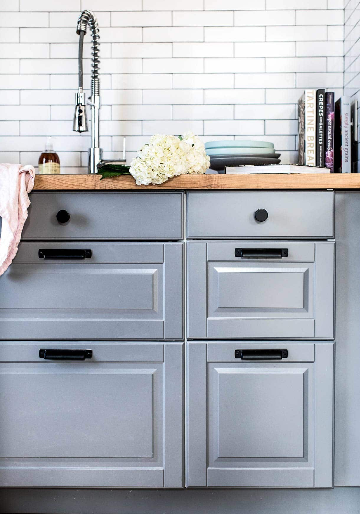 ikea cabinets with butcherblock countertops