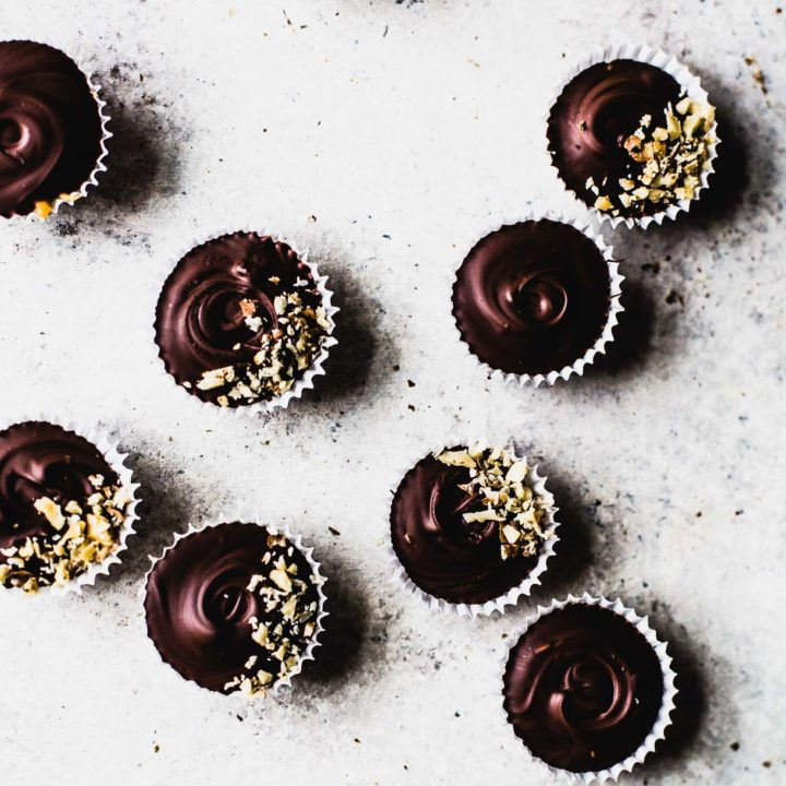 Walnut Caramel Chocolate Cups -- holiday candy recipe